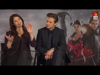 2013. Hansel & Gretel - Jeremy Renner and Gemma Arterton Exclusive Interview (2013) GEWINNSPIEL